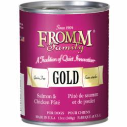 Fromm Salmon & Chicken Pate Canned Dog Food, 12.2-oz can