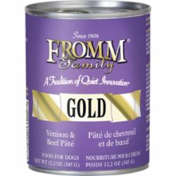 Fromm Venison & Beef Pate Canned Dog Food, 12.2-oz can