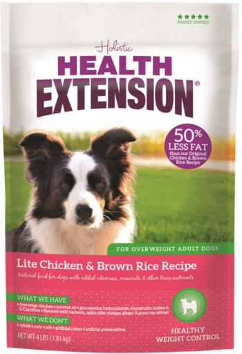 Health Extension Lite Chicken & Brown Rice Recipe Dry Dog Food, 4 or 15-lb bag