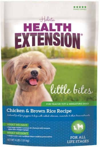 Health Extension Little Bites Chicken & Brown Rice Recipe Dry Dog Food, 4 or 18-lb bag
