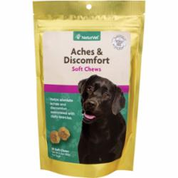 NaturVet Aches & Discomfort Dog Soft Chews, 30 ct pouch