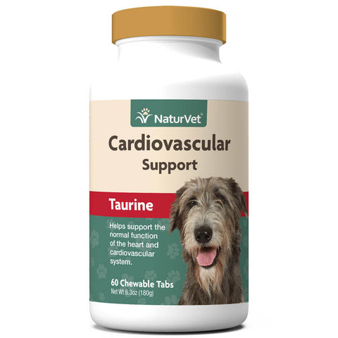 NaturVet Cardiovascular Support Taurine Dog Supplement, 60-count