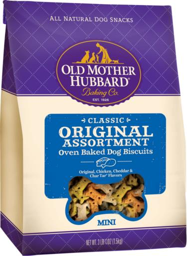Old Mother Hubbard Classic Original Assortment Biscuits Baked Dog Treats, 3.5-lb bag