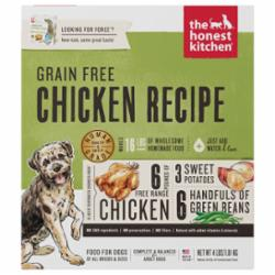 The Honest Kitchen Chicken Recipe Grain-Free Dehydrated Dog Food, 4-lb box