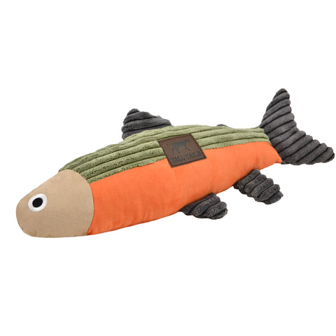 Tall Tails Fish Squeaker Dog Toy, 12-in