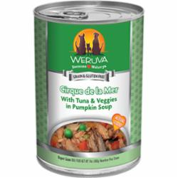 Weruva Dog Classic Cirque De La Mer with Tuna & Veggies in Pumpkin Soup Grain-Free Wet Dog Food, 14-oz