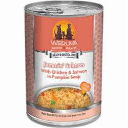 Weruva Dog Classic Jammin' Salmon with Chicken & Salmon in Pumpkin Soup Grain-Free Wet Dog Food, 14-oz can