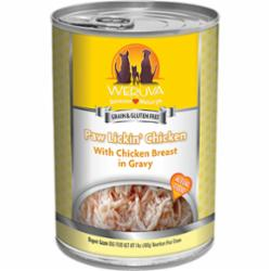 Weruva Dog Classic Paw Lickin' Chicken in Gravy Grain-Free Wet Dog Food, 14-oz can