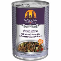 Weruva Dog Classic Steak Frites with Beef, Pumpkin & Sweet Potatoes in Gravy Grain-Free Wet Dog Food, 14-oz can