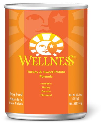 Wellness Complete Health Turkey & Sweet Potato Formula Canned Dog Food, 12.5-oz can