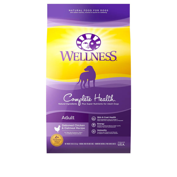 Wellness Complete Health Deboned Chicken & Oatmeal Recipe Dry Dog Food, 30-lb bag