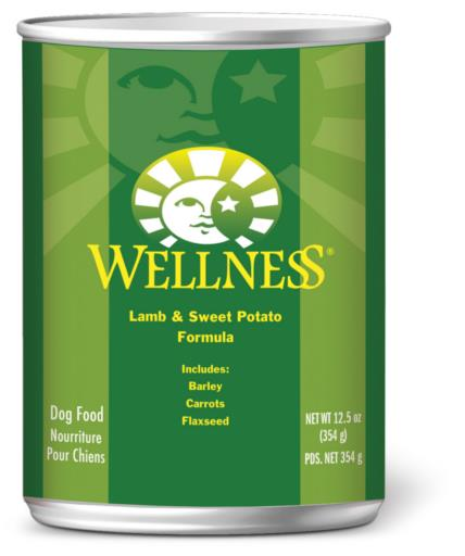 Wellness Complete Health Lamb & Sweet Potato Formula Canned Dog Food, 12.5-oz can