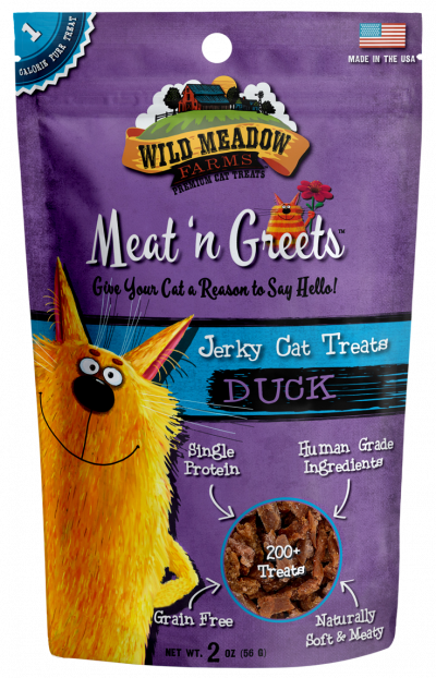 Wild Meadow Farms Meat 'N Greets Duck, 2-oz, bag