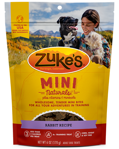 Zukes Mini Naturals Rabbit Recipe, 6-oz bag