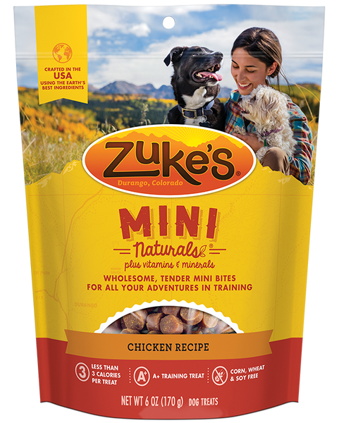Zukes Mini Naturals Chicken Recipe, 6-oz bag