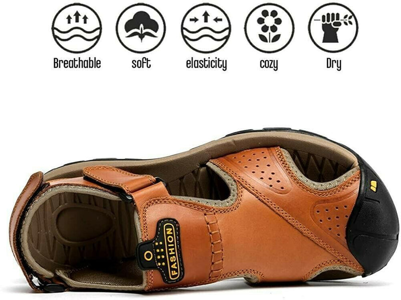 🔥Men Leather Hiking Sandals(BUY 2 GET 1 FREE)
