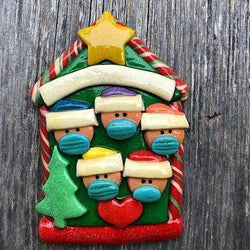 Pandemic Candy House Ornament