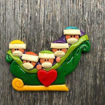 Pandemic Family Sleigh Ornament
