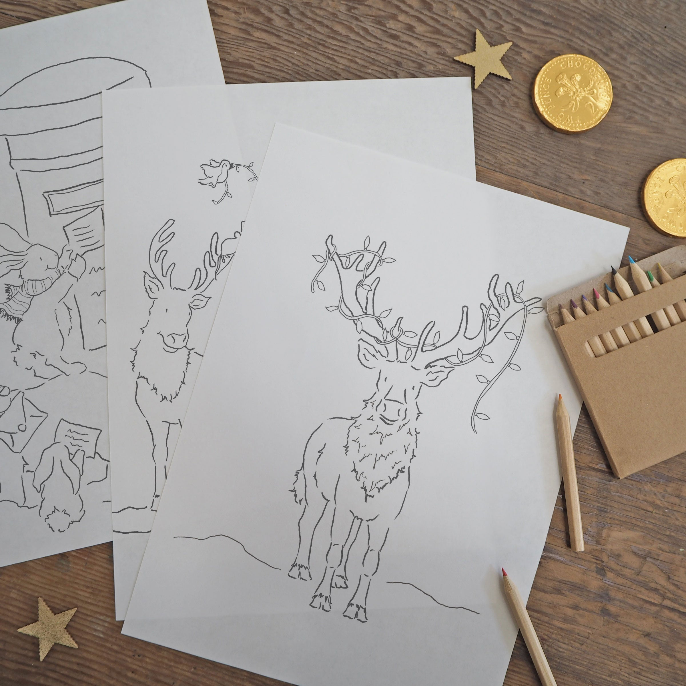 children's Christmas colouring sheets