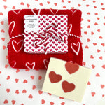 Valentine Heart Soap & Hand Towel Set