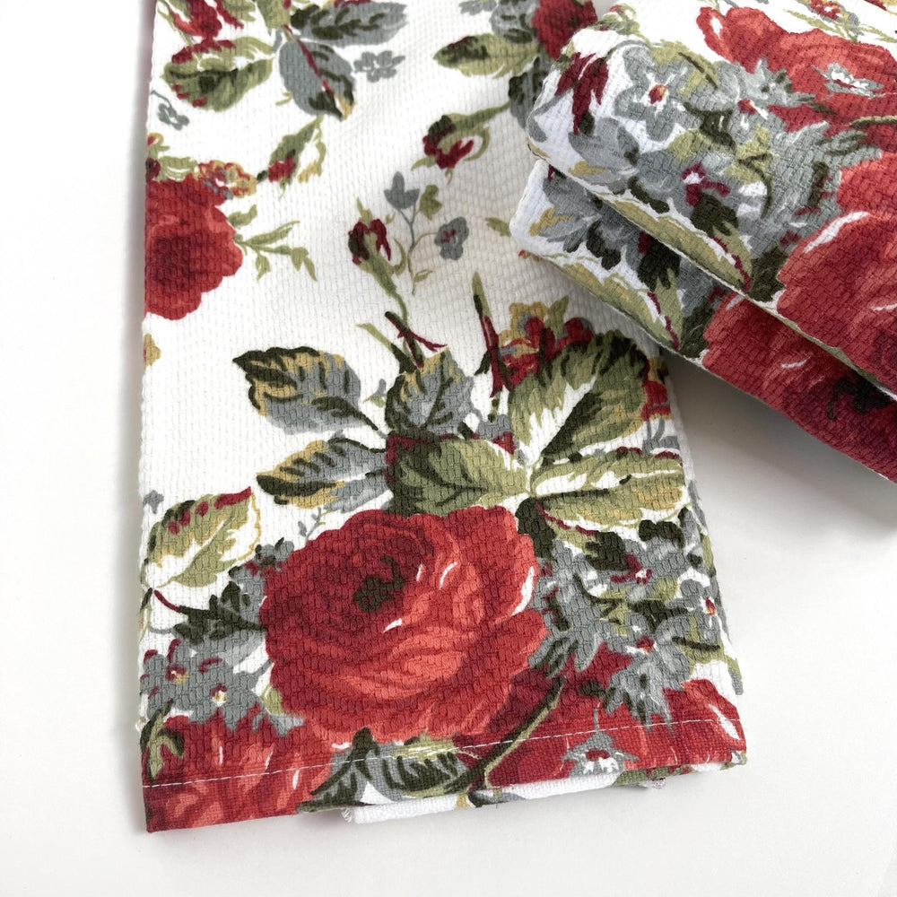 Load image into Gallery viewer, Garden Rose Hand & Face Towel