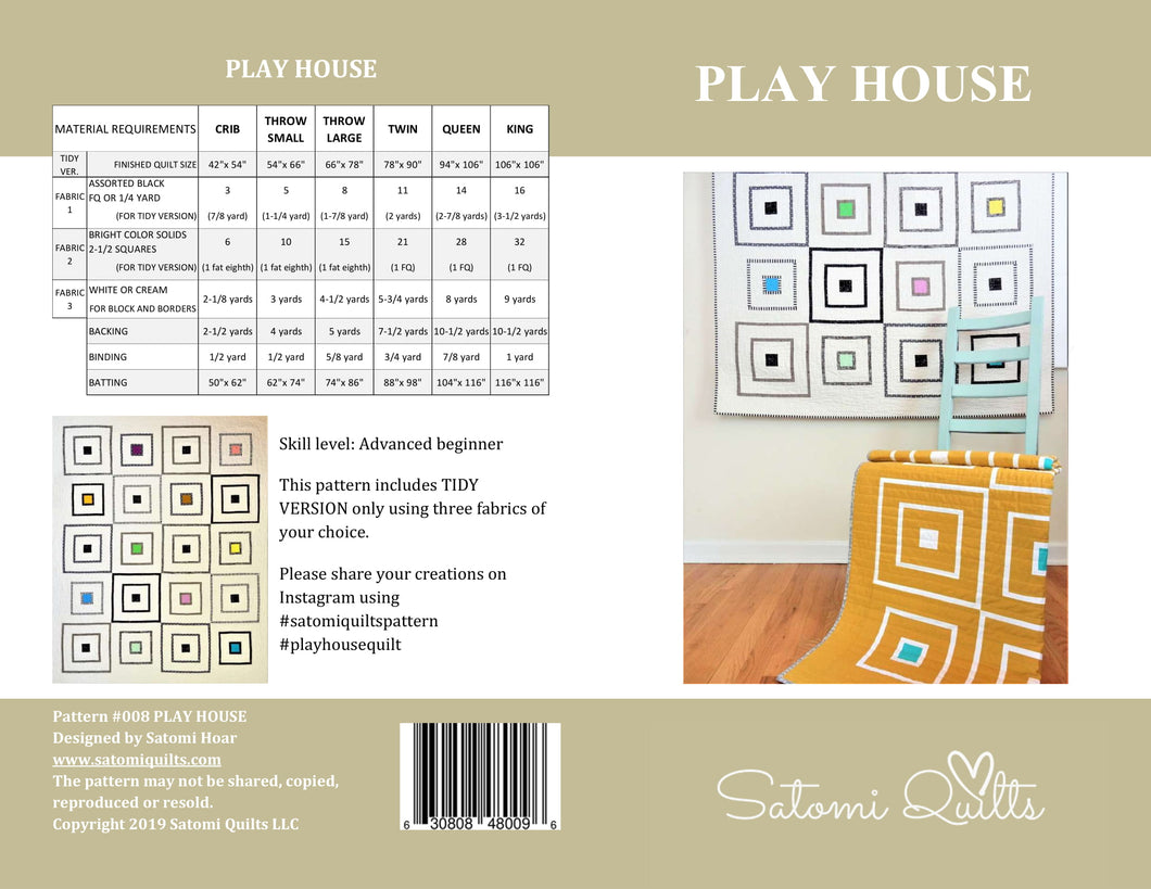 PLAY HOUSE _ paper quilt pattern