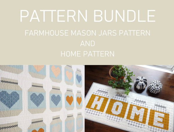 MASON JARS PATTERN BUNDLE _ digital quilt pattern