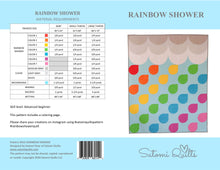 Load image into Gallery viewer, RAINBOW SHOWER _ digital quilt pattern