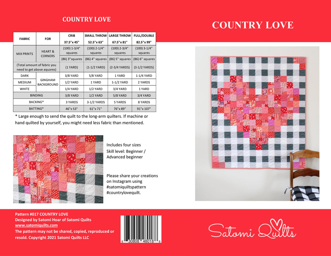 COUNTRY LOVE_paper quilt pattern