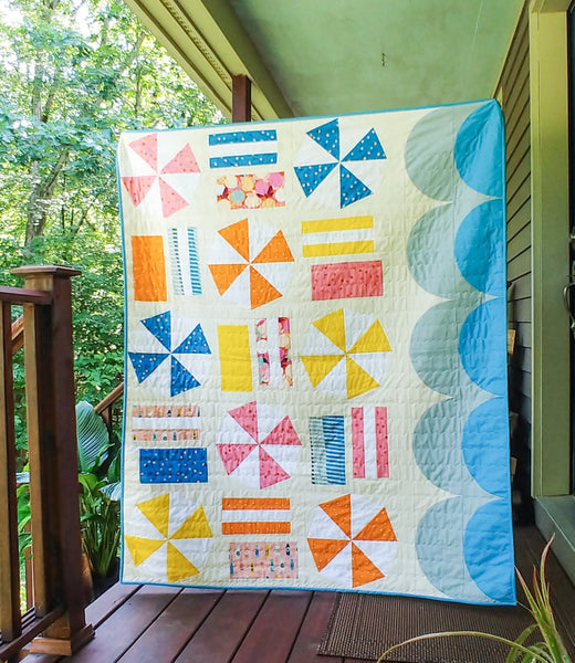 Handmade quilt _ BEACH DAY