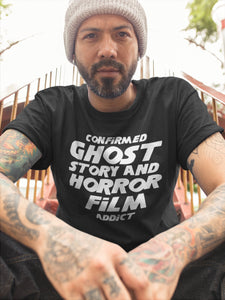Confirmed Ghost Story and Horror Film Addict - The Shining-Inspired Unisex Tee Printify