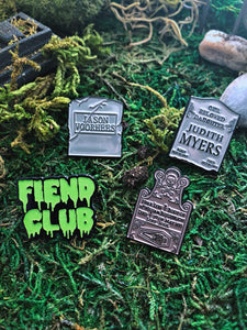 Enamel Pin - Dig Him Up Enamel Pin - Friday The 13th Jason Voorhees Pin From The Cinema Cemetery Collection