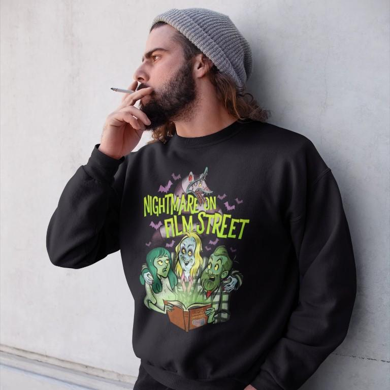 Sweatshirt - Horror For The Casually Obsessed - Nightmare On Film Street Pullover Sweatshirt