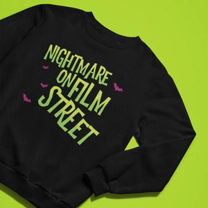 Sweatshirt - Nightmare On Film Street Pullover Sweatshirt - Unisex