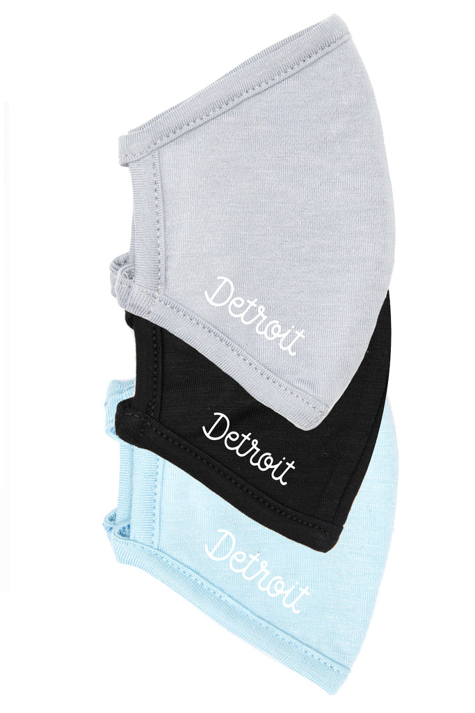 Detroit by Kelly Stafford - Kids 3-Pack (Black, Sky Blue, Glacier Grey)