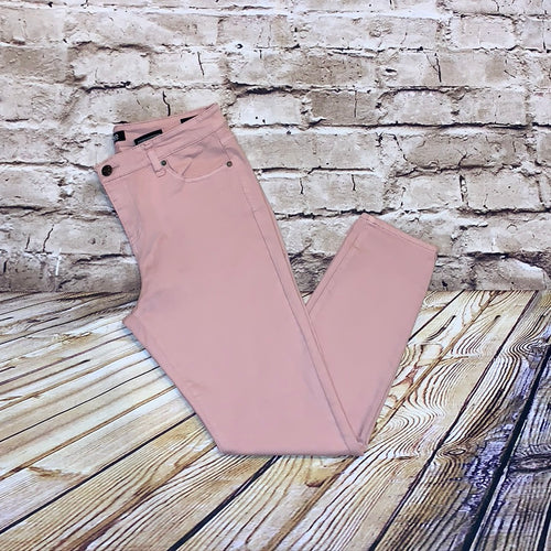 Buffalo pink skinny stretch jeans.