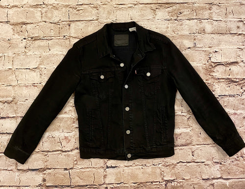 Levi's black jean jacket, like new.