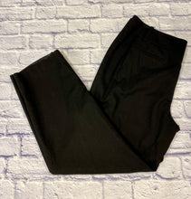 Load image into Gallery viewer, Talbots black wool pants with double button and zip closure.  Straight leg with two side pockets.  Slit back pockets.  Very nicely tailored.  Like new.