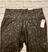 Load image into Gallery viewer, Livi black leopard print active leggins.  Slight sheen, wide waistband.  New with tags.
