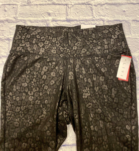 Livi black leopard print active leggins.  Slight sheen, wide waistband.  New with tags.