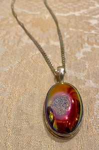 Druzy and Sterling Silver Necklace