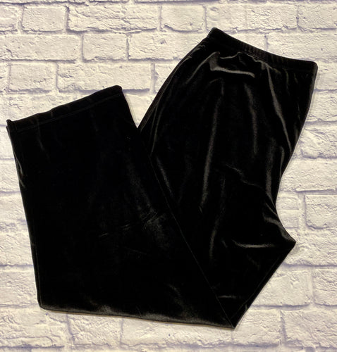 Notations black velour pants with elastic waistband.  Bootcut leg.  Very soft and in great condition.