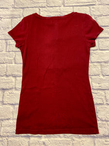 Aeropostale Pleat Button T-Shirt