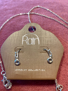 Rain Jewelry Silver Clear Y Necklace Set