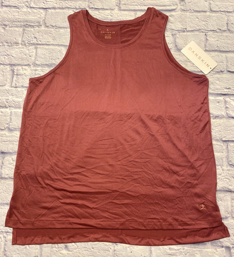 Danskin mauve active tank with inch slit sides.  New with tags.