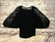 Load image into Gallery viewer, Nordstrom Black Jersey Blouse