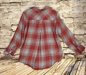 Sonoma Tie Front Long Sleeved Flannel