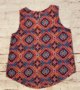 Xhilaration Aztec Print and Lace Tank
