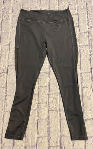 Victoria Sport charcoal grey active leggings with pockets on both sides.