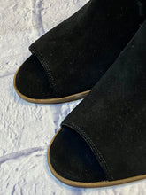 Load image into Gallery viewer, Lucky Brand Suede Open Toe Bootie